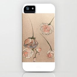 Falling Roses iPhone Case