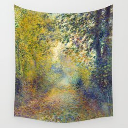 "Auguste Renoir  ""In the Woods"" Wall Tapestry"