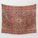Kashan  Antique Persian Rug by vickybragomitchell