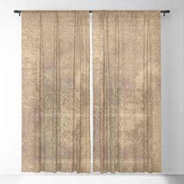 Abstract gold paper Sheer Curtain