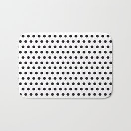 Black polka Bath Mat