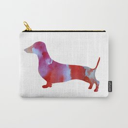 Pink watercolor dachshund Carry-All Pouch