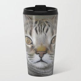 British shorthair cat Metal Travel Mug