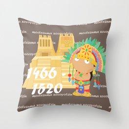 Moctezuma Xocoyotzin Throw Pillow