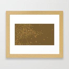 Autumn drawing Framed Art Print