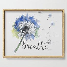 Breathe! Dandelion Floral Botanical Art Serving Tray
