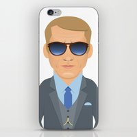 steve mcqueen iPhone & iPod Skins featuring Steve McQueen by Capitoni