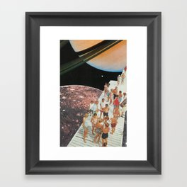 People of Titan Framed Art Print