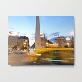 Avenida 9 de Julio y el Oberlisco, Buenos Aires Metal Print