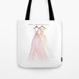 Two Dresses 1 Tote Bag