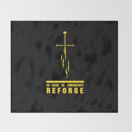 In case of emergency reforge Throw Blanket