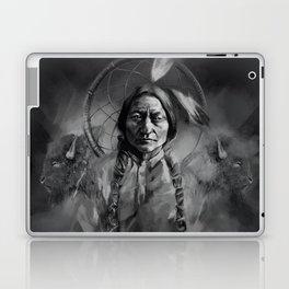 Black and white portrait-Sitting bull Laptop & iPad Skin