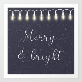 Midnight Lights// Christmas Lights// Seasonal Lights// Holiday Spirit Art Print