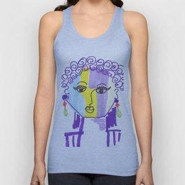 Crazy Face Purple Curls Unisex Tank Top