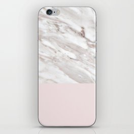 Blush and taupe marble iPhone Skin