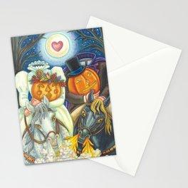 SLEEPY HOLLOW WEDDING - Brack Headless Horseman Halloween Art Stationery Cards