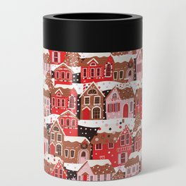 Gingerbread Village Can Cooler