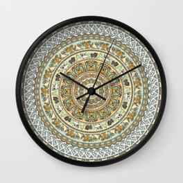 Pug Yoga Medallion Wall Clock