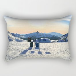 The snow, signs, shadows, sun, sky - and the surrounding! Rectangular Pillow