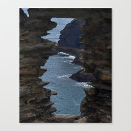 View from a Castle - Tintagel Castle - Tintagel, England Canvas Print