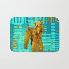 Abstract Airedale Terriers Digital Art Bath Mat