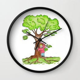 Tree Hug Wall Clock