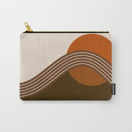 Cocoa Sundown Stripes Carry-All Pouch