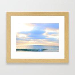 unridden wave Framed Art Print