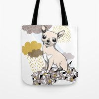 chihuahua Tote Bags featuring Chihuahua by Camille Roy