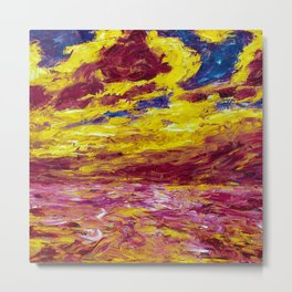 1910 Classical Masterpiece 'Autumn' Sea by Emil Nolde Metal Print