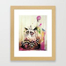 Surly Cat & Friends Framed Art Print