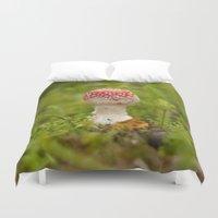 mushroom Duvet Covers featuring Mushroom by Mirella von Chrupek