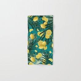 Summer Lemon Twist Jungle #5 #tropical #decor #art #society6 Hand & Bath Towel