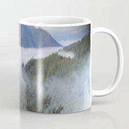 Misting fog over the mountains.... Coffee Mug