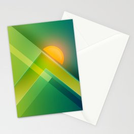 Fusion Sunset Stationery Cards