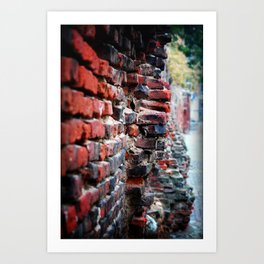 Another brick in the Wall Art Print