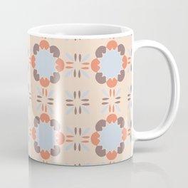 Blue Retro Tile Coffee Mug