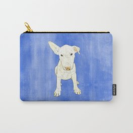 English bull terrier puppy pop art Carry-All Pouch