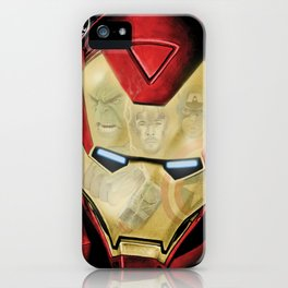 Avengers Reflection iPhone Case