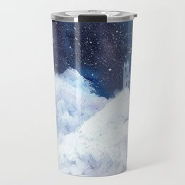 castle in the galaxy painting Travel Mug