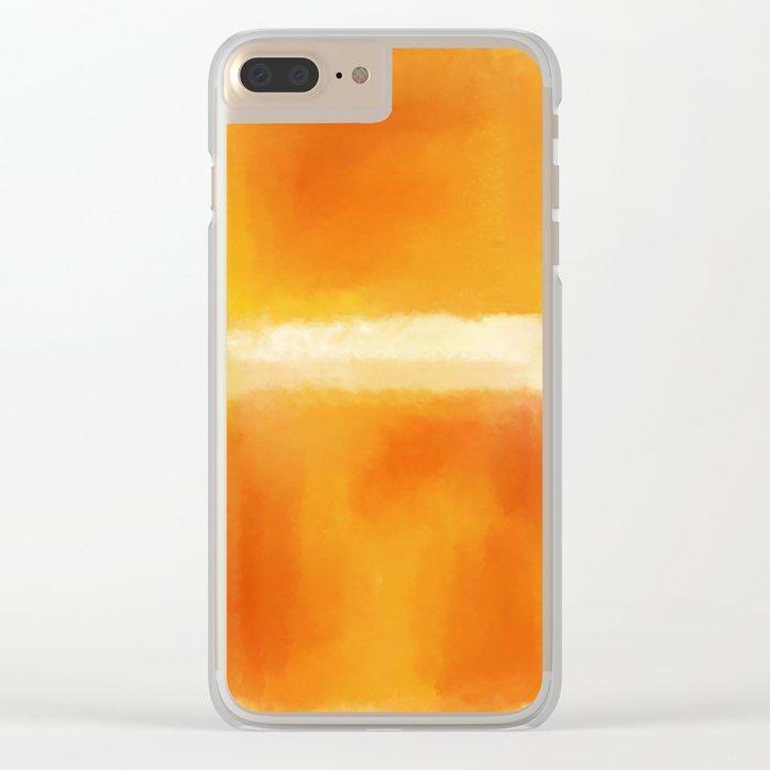 Mark Rothko Interpretation Orange On Orange Clear iPhone Case