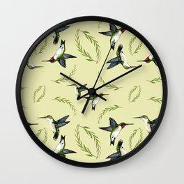 Mr. and Mrs. Hummingbird Pattern Wall Clock