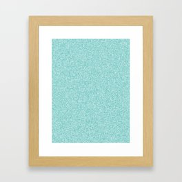 Melange - White and Verdigris Framed Art Print