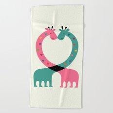 Love With Heart Beach Towel