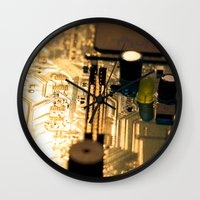 technology Wall Clocks featuring Sunset Technology by Encore Designs