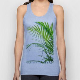 Palm leaves paradise Unisex Tank Top