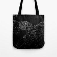 edinburgh Tote Bags featuring Edinburgh by Line Line Lines