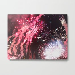 Fireworks in the Magic Kingdom Metal Print