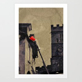 Painter in Peterborough Art Print