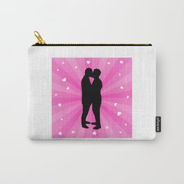Gay Couple Kissing Carry-All Pouch